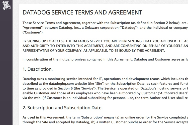 2019 Terms Of Service Templates